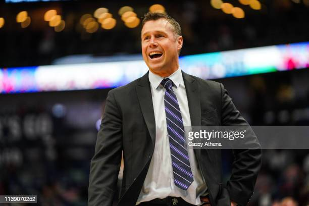 Head coach of the Sacramento Kings Dave Joerger yells from the sidelines during a game against the New Orleans Pelicans at Smoothie King Center on...