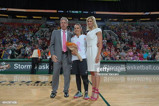 Head coach of the Seattle Storm and former assistant coach of the San Antonio Stars Brian Agler and assistant coach Jenny Boucek of the Seattle Storm...