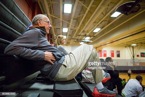 Head coach of the Syracuse men's basketball team Jim Boeheim is photographed for Sports Illustrated on December 11 2015 in Syracuse New York He and...