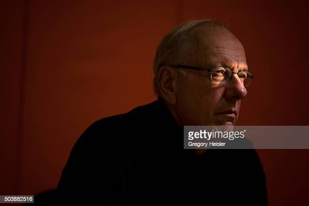 Head coach of the Syracuse men's basketball team Jim Boeheim is photographed for Sports Illustrated on December 12 2015 in DeWitt New York Boeheim is...