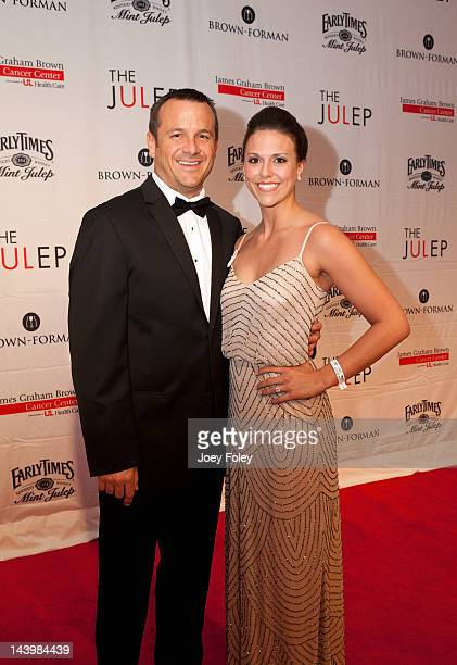 Head coach of the women's basketball team at the University of Louisville Jeff Walz and his wife attend the 2012 Julep ball at the Galt House Hotel...