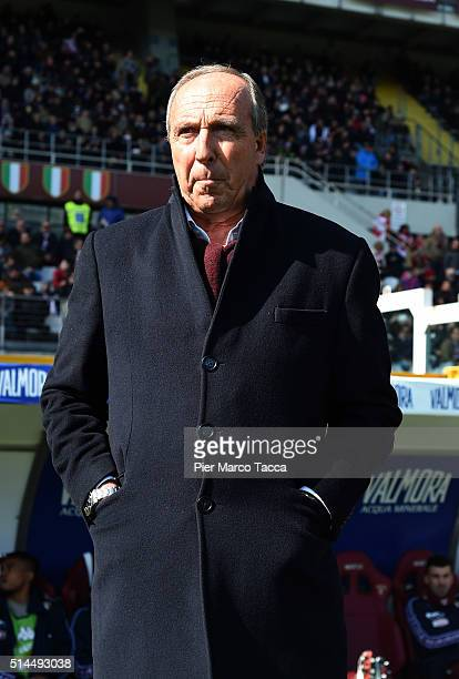 Head Coach of Torino FC Giampiero Ventura looks during the Serie A match between Torino FC and SS Lazio at Stadio Olimpico di Torino on March 6 2016...