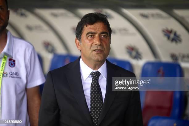 Head coach of Trabzonspor Unal Karaman is seen ahead of the Turkish Super Lig soccer match between Trabzonspor and Demir Grup Sivasspor at Medical...