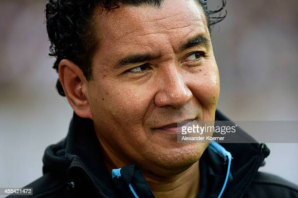 Head Coach of TSV 1860 Muenchen Ricardo Moniz looks on prior the Second league match between FC St Pauli and TSV 1860 Muenchen at Millerntor Stadium...