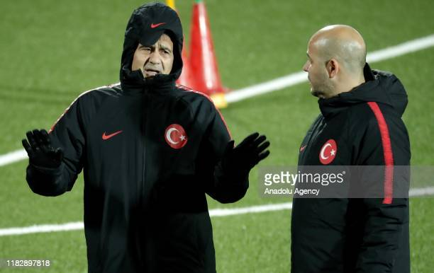 Head coach of Turkey National Football team Senol Gunes leads a training session ahead of UEFA EURO 2020 European Championship Qualifiers Group H...