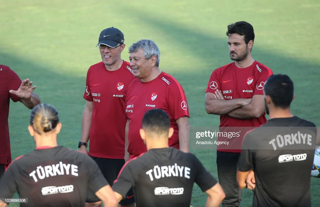 Turkish national football team's training session in Istanbul : Foto di attualità