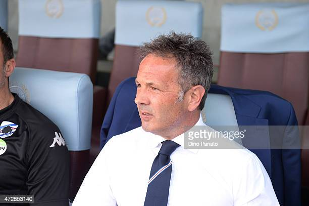 Head coach of UC Samdoria Sinisa Mihajlovic looks on during the Serie A match between Udinese Calcio and UC Sampdoria at Stadio Friuli on May 10 2015...
