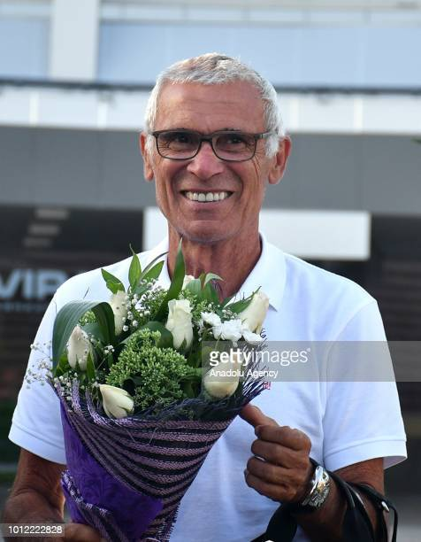 Head coach of Uzbekistan Hector Cuper is welcomed as he arrives to attend the signing ceremony for the Uzbek National Football Team in Tashkent...