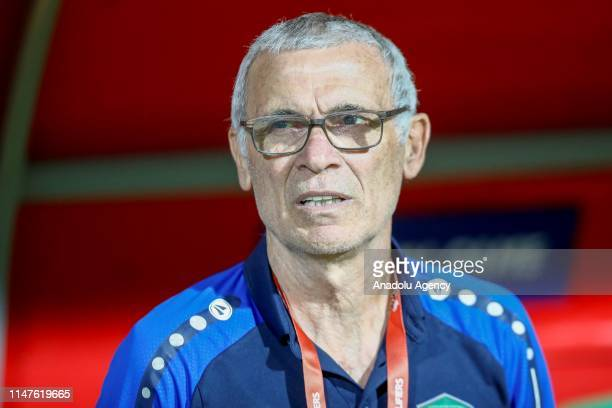 Head coach of Uzbekistan national football team Hector Cuper is seen during a friendly match between Turkey and Uzbekistan at Alanya Bahcesehir...
