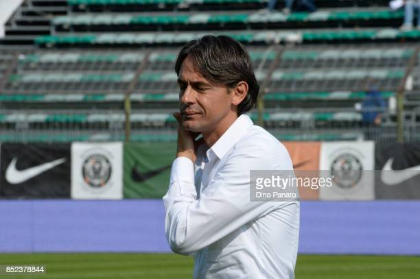 Head coach of Venezia Filippo Inzaghi during the Serie B match between Venezia FC and Parma Calcio on September 23 2017 in Venice Italy