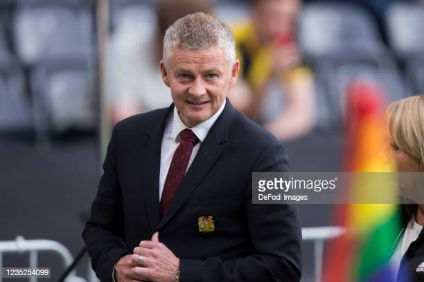 Head coach Ole Gunnar Solskjaer of Manchester United looks on prior to the UEFA Champions League group F match between BSC Young Boys and Manchester...
