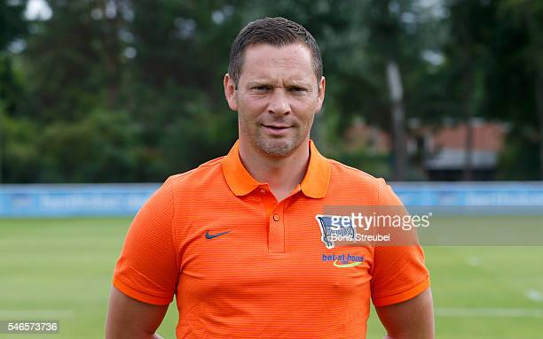 Head coach Pal Dardai of Hertha BSC poses during the Hertha BSC Team Presentation on July 12 2016 in Berlin Germany