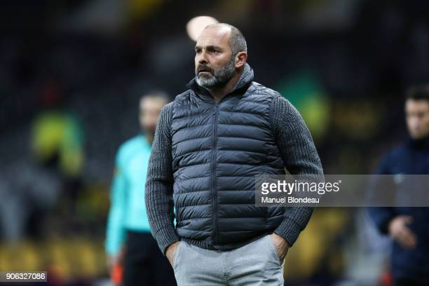 Head coach Pascal Dupraz of Toulouse during the Ligue 1 match between Toulouse and Nantes at Stadium Municipal on January 17 2018 in Toulouse