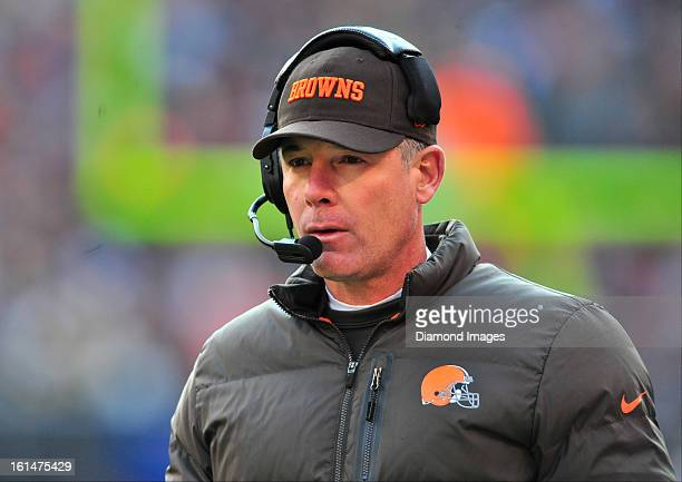 Head coach Pat Shurmur of the Cleveland Browns walks on the sideline during a game against the Pittsburgh Steelers at Cleveland Browns Stadium in...