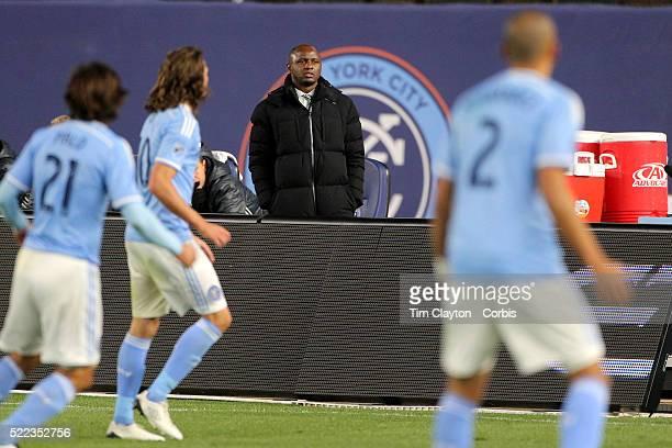 Head coach Patrick Vieira NYCFC during the New York City FC Vs Chicago Fire MLS regular season match at Yankee Stadium on April 10 2016 in New York...