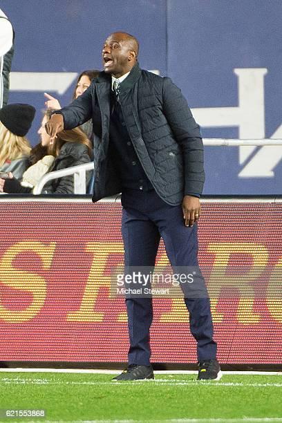 Head coach Patrick Vieira of New York City FC during the match vs Toronto FC at Yankee Stadium on November 6 2016 in New York City Toronto FC defeats...