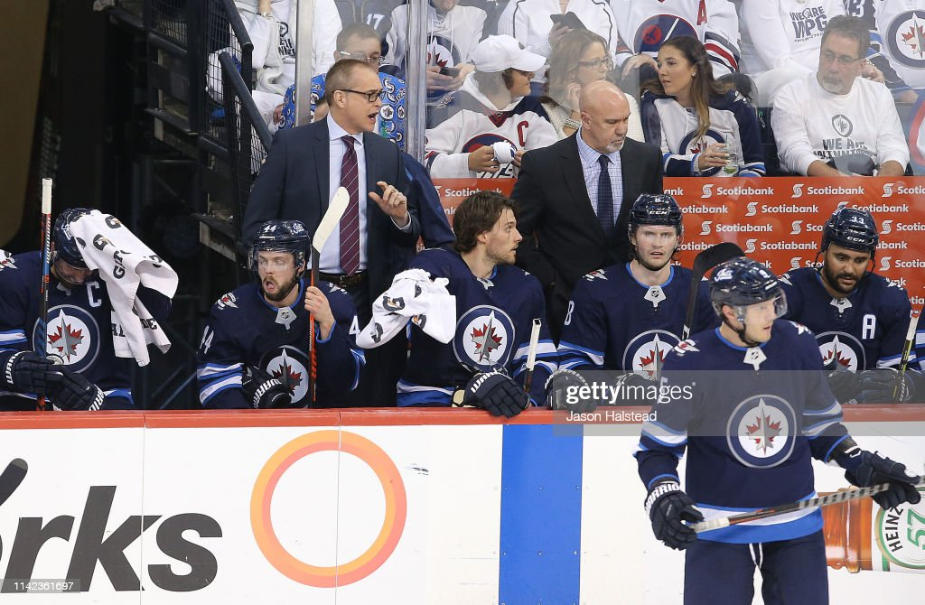 St Louis Blues v Winnipeg Jets - Game Two : News Photo