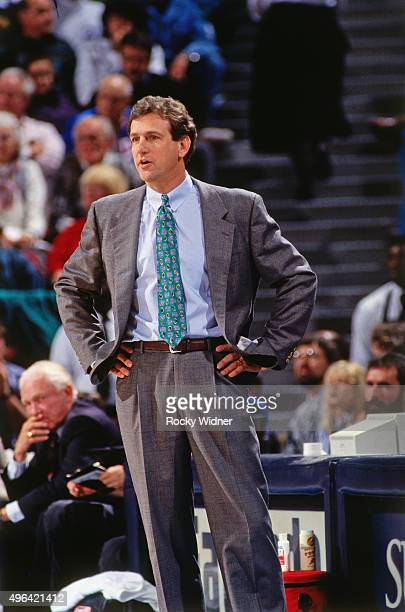 Head Coach Paul Westphal of the Phoenix Suns against the Sacramento Kings circa 1993 at Arco Arena in Sacramento California NOTE TO USER User...