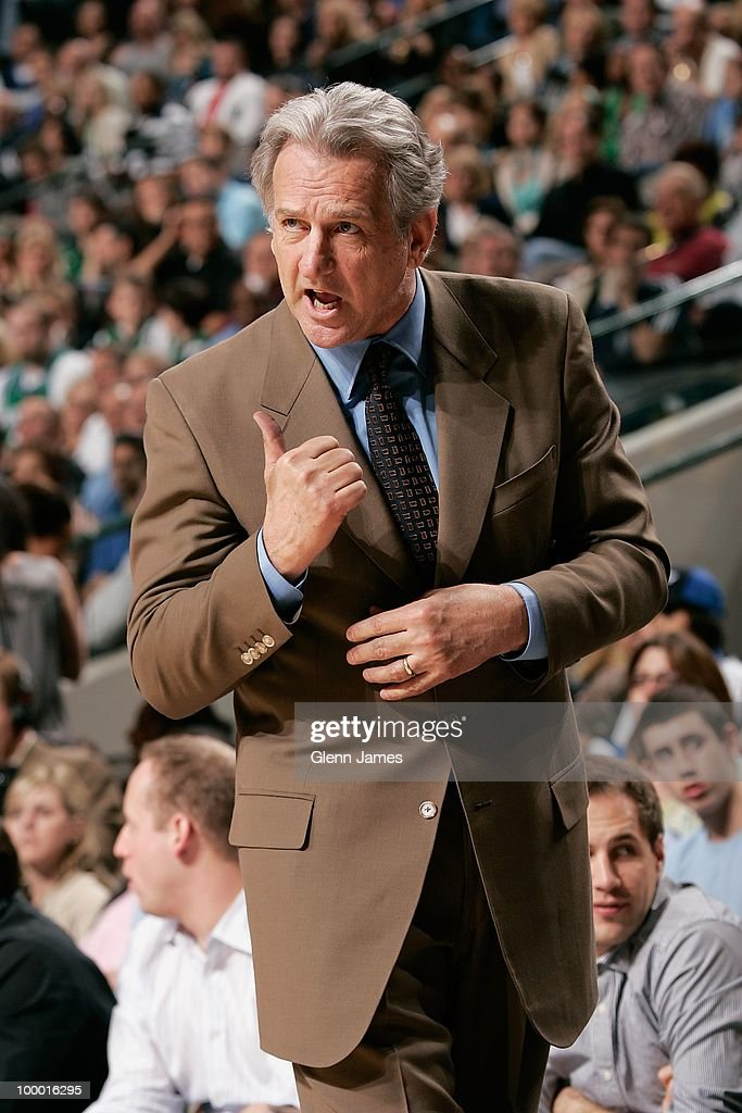 Head coach Paul Westphal of the Sacramento Kings reacts on the sideline during the game against the Dallas Mavericks at the American Airlines Center on March 5, 2010 in Dallas, Texas. The Mavericks won 108-100.