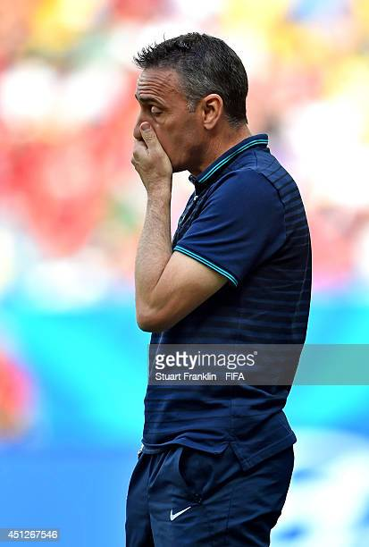 Head coach Paulo Bento of Portugal looks on during the 2014 FIFA World Cup Brazil Group G match between Portugal and Ghana at Estadio Nacional on...