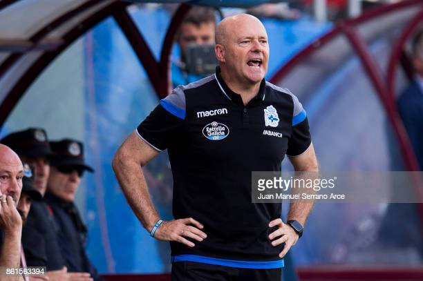 Head Coach Pepe Mel of RC Deportivo La Coruna reacts during the La Liga match between SD Eibar and RC Deportivo La Coruna at Ipurua Municipal Stadium...