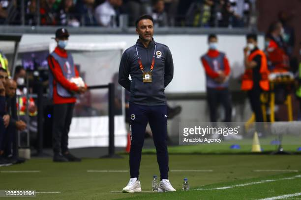 Head coach Pereira of Fenerbahce gestures during the UEFA Europa League group D match between Eintracht Frankfurt and Fenerbahce at Deutsche Bank...