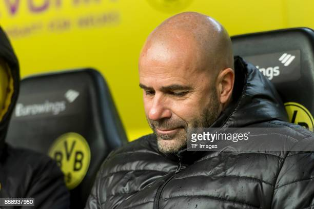 Head coach Peter Bosz of Dortmund looks on during the Bundesliga match between Borussia Dortmund and SV Werder Bremen at Signal Iduna Park on...