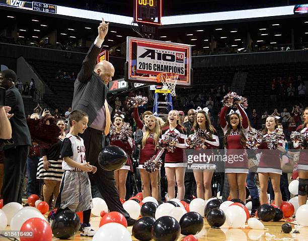 Head coach Phil Martelli of the Saint Joseph's Hawks reacts after the game against the Virginia Commonwealth Rams in the championship game of the...