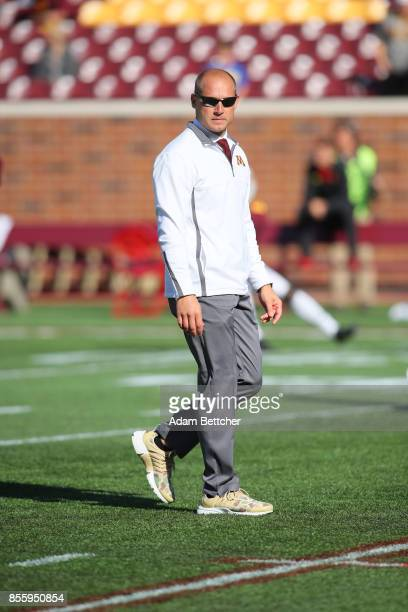a9134dab30626 Head coach PJ Fleck of the Minnesota Golden Gopher walks the field pregame  against the University. Minnesota v Nebraska