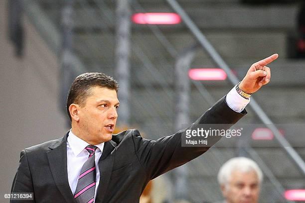 Head coach Predrag Krunic of Telekom Baskets Bonn reacts during the BBL Bundesliga match between Telekom Baskets Bonn and Brose Bamberg at Telekom...