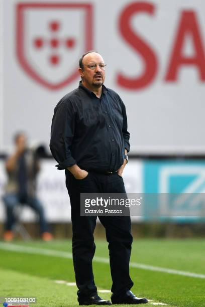 Head coach Rafa Benitez of Newcastle in action during the Preseason friendly between SC Braga and Newcastle on August 1 2018 in Braga Portugal