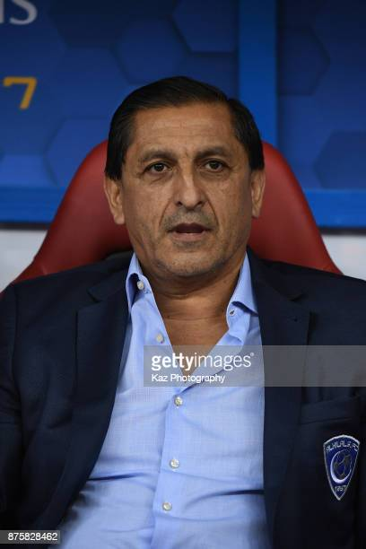 Head coach Ramon Diaz looks on prior to the AFC Champions League Final 2017 first leg between AlHilal and Urawa Red Diamonds at King Fahd...
