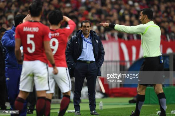 Head coach Ramon Diaz of AlHilal looks on during the AFC Champions League Final second leg match between Urawa Red Diamonds and AlHilal at Saitama...