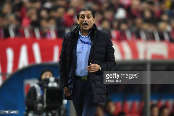 Head coach Ramon Diaz of AlHilal reacts during the AFC Champions League Final second leg match between Urawa Red Diamonds and AlHilal at Saitama...