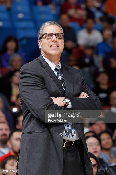 Head coach Randy Wittman of the Washington Wizards coaches against the Sacramento Kings on March 30 2016 at Sleep Train Arena in Sacramento...