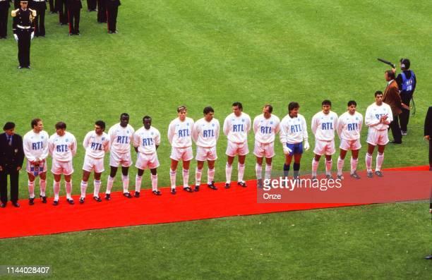 Head coach Raymond Goethals, Jean Pierre Papin, Dragan Stojkovic, Eric Mura, Basile Boli, Abedi Pele, Chris Waddle, Laurent Fournier, Philippe...