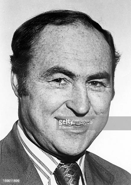 Head coach Red Kelly of the Toronto Maple Leafs poses for a portrait circa 1975 in Toronto Ontario Canada