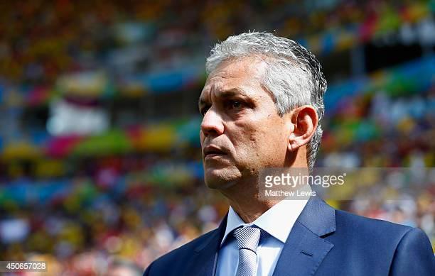 Head coach Reinaldo Rueda of Ecuador looks on during the 2014 FIFA World Cup Brazil Group E match between Switzerland and Ecuador at Estadio Nacional...