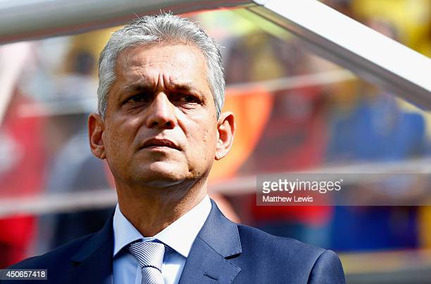 Head coach Reinaldo Rueda of Ecuador looks on during the 2014 FIFA World Cup Brazil Group E match between Switzerland and Ecuador at Estadio Nacional...