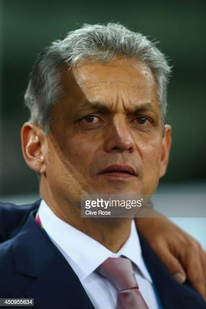 Head coach Reinaldo Rueda of Ecuador looks on during the 2014 FIFA World Cup Brazil Group E match between Honduras and Ecuador at Arena da Baixada on...