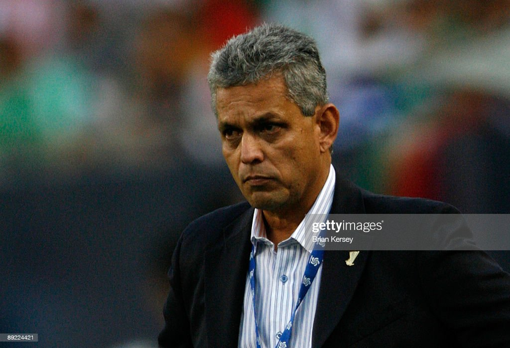 Head coach Reinaldo Rueda of Honduras looks on against the USA during their CONCACAF Cup Semifinal match at Soldier Field on July 23, 2009 in Chicago, Illinois.
