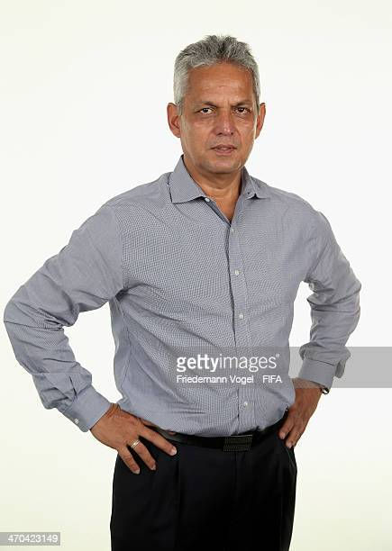 Head coach Reinaldo Rueda Rivera of Ecuador poses during the FIFA Team Workshop for the 2014 FIFA World Cup Brazil on February 19 2014 in...