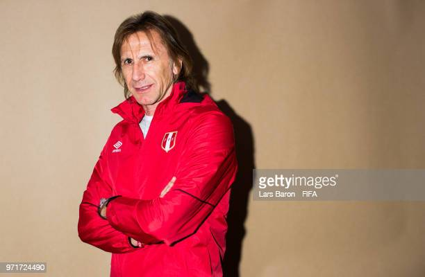 Head coach Ricardo Gareca poses for a portrait during the official FIFA World Cup 2018 portrait session on June 11 2018 in Moscow Russia