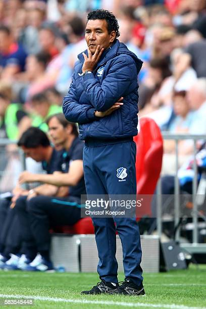 Head coach Ricardo Moniz of FC Eindhoven is seen during the friendly match between FC Eindhoven and PSV Eindhoven at Philips Stadium on July 26 2016...