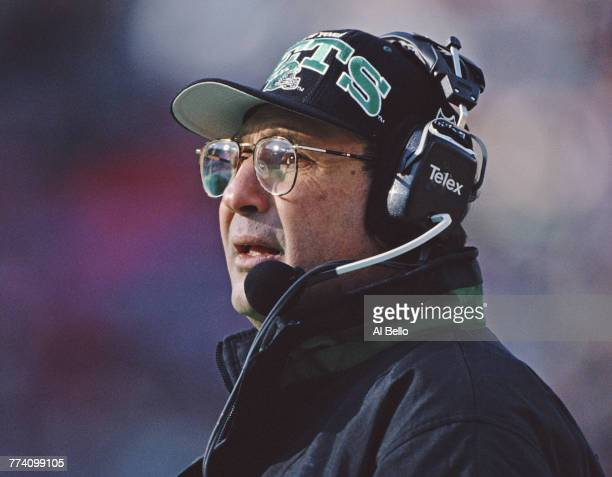 Head Coach Rich Kotite of the New York Jets during the American Football Conference East game against the New Orleans Saints on 24 December 1995 at...
