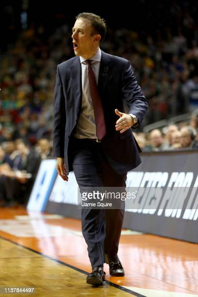Head coach Richard Pitino of the Minnesota Golden Gophers shouts against the Michigan State Spartans during the first half in the second round game...