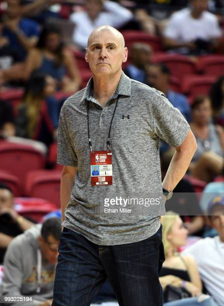 Head coach Rick Carlisle of the Dallas Mavericks attends a 2018 NBA Summer League game between the Mavericks and the Phoenix Suns at the Thomas Mack...
