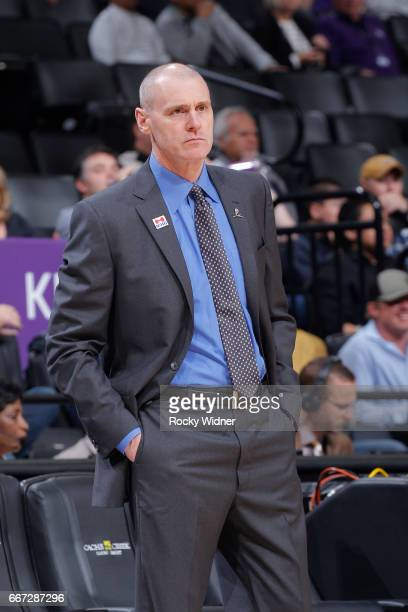 Head Coach Rick Carlisle of the Dallas Mavericks coaches against the Sacramento Kings on April 4 2017 at Golden 1 Center in Sacramento California...