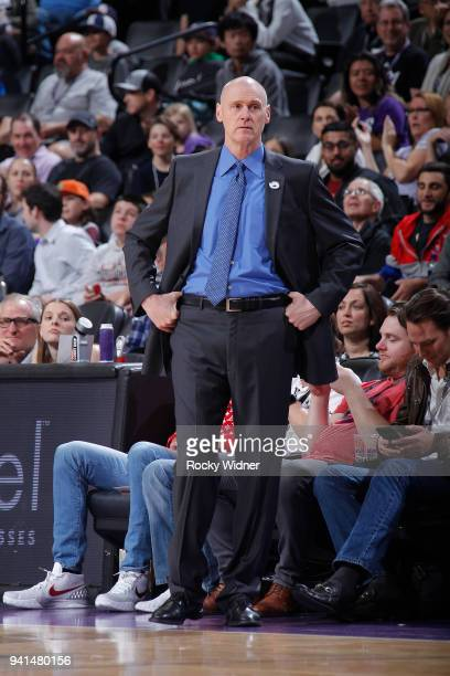 Head Coach Rick Carlisle of the Dallas Mavericks coaches against the Sacramento Kings on March 27 2018 at Golden 1 Center in Sacramento California...