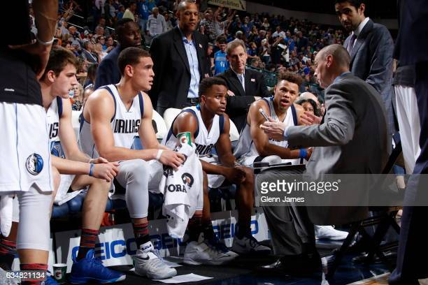 Head Coach Rick Carlisle of the Dallas Mavericks coaches during the game against the Orlando Magic on February 11 2017 at the American Airlines...